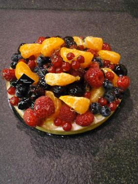 Tarte aux fruits assortis 4 personnes